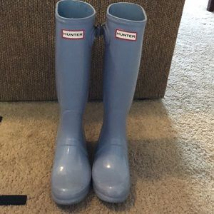 Egg shell blue Matte authentic Hunter rain boots